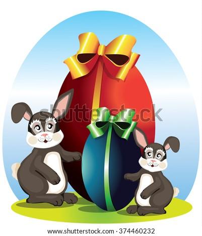 Easter symbols - stock vector