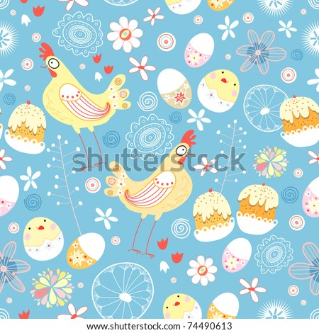 Easter texture - stock vector