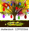 Easter tree with eggs. happy Easter - stock vector
