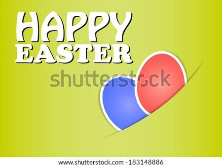 Easter - vector - stock vector