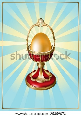 Easter vector illustration. EPS8, all parts closed, possibility to edit. - stock vector