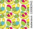 Easter vector seamless pattern - stock vector