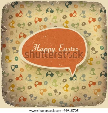 Easter vintage background. Vector illustration. - stock vector