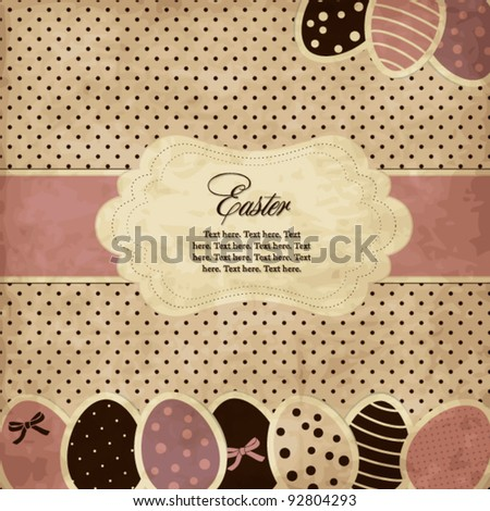 Easter vintage card - stock vector
