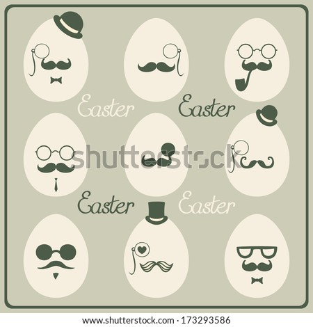 Easter vintage  eggs. Vector illustration. - stock vector