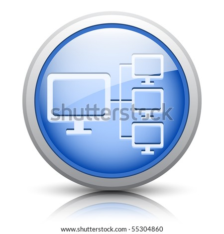 Easy editable vector button for web design - stock vector
