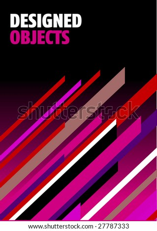 Easy to edit design objects - stock vector