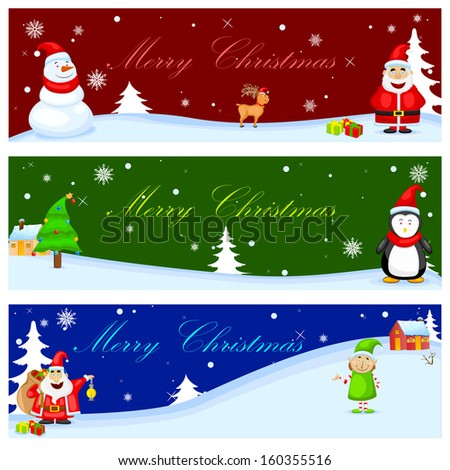 easy to edit vector illustration of Christmas Banner - stock vector