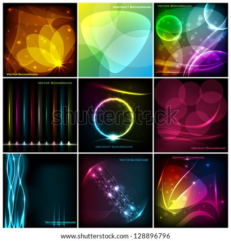easy to edit vector illustration of collection of abstract background - stock vector