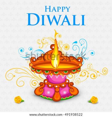 Happy Ugadi Template Greeting Card Set Stock Vector ...