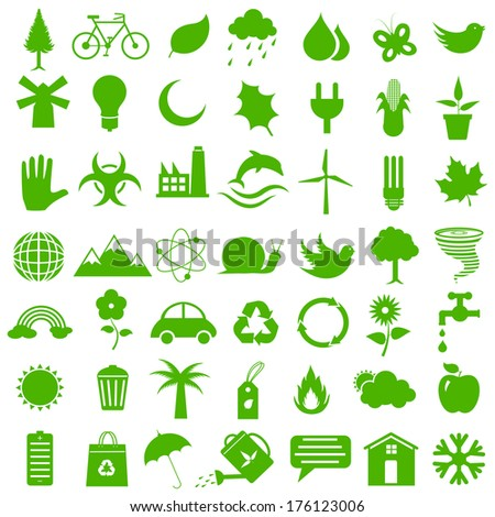 easy to edit vector illustration of flat style environment icon - stock vector