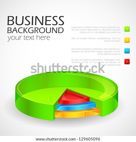 easy to edit vector illustration of glossy pie chart