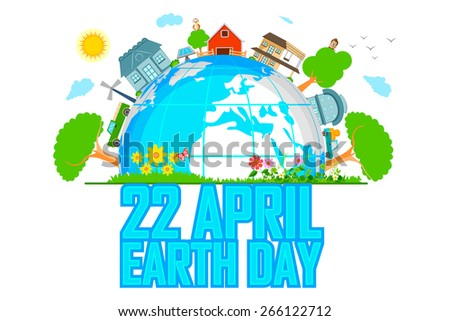 easy to edit vector illustration of green Earth concept