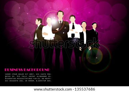 easy to edit vector illustration of group of businesspeople - stock vector