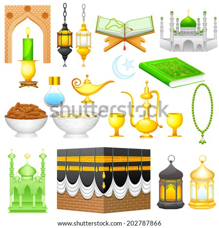 easy to edit vector illustration of object for Eid design - stock vector