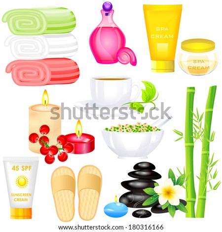 easy to edit vector illustration of Spa Object - stock vector