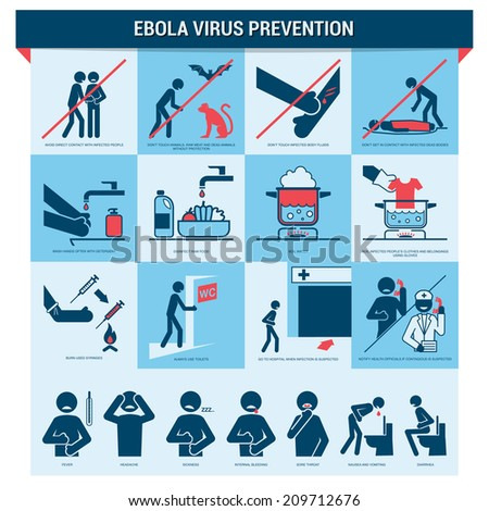Ebola prevention - stock vector