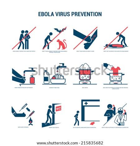 Ebola virus prevention - stock vector