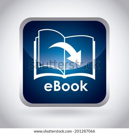eBook design over gray background, vector illustration - stock vector