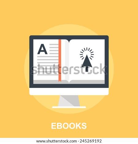 Ebooks - stock vector