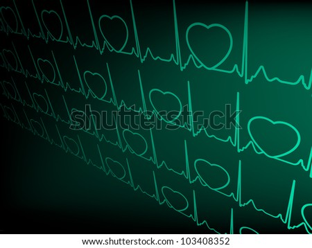 ECG tracing monitor. EPS 8 vector file included - stock vector