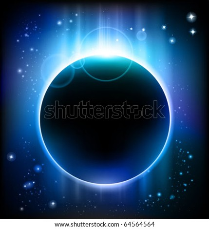 eclipse background - stock vector