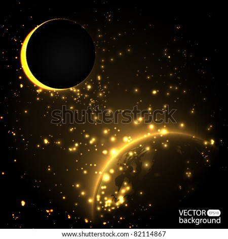 Eclipse - sun - stock vector