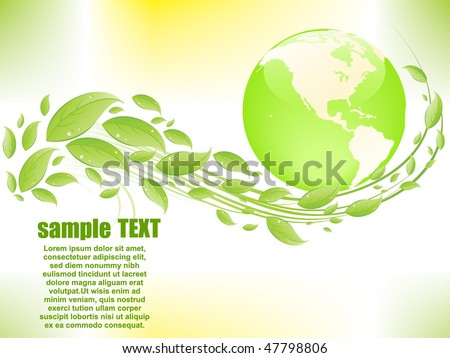 Eco abstract background - stock vector