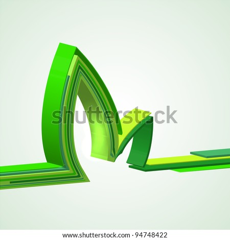 eco abstract background. Vector illustration - stock vector