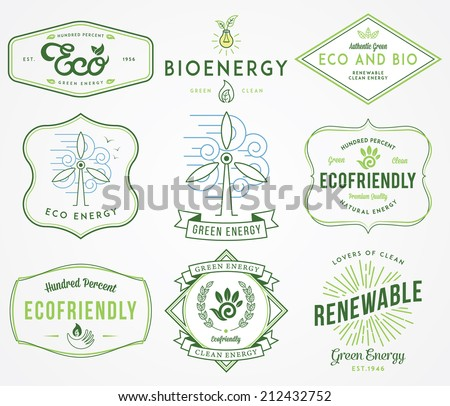 Eco and Bio Energy 2 colored - stock vector