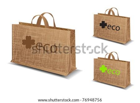 eco bag illustration-vector - stock vector