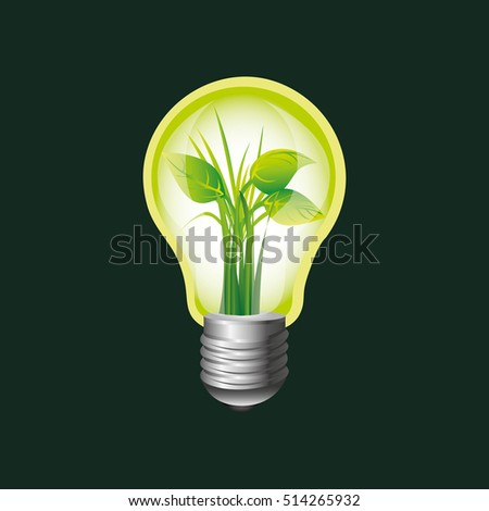 eco book environment bulb plant graphic vector illustration eps 10