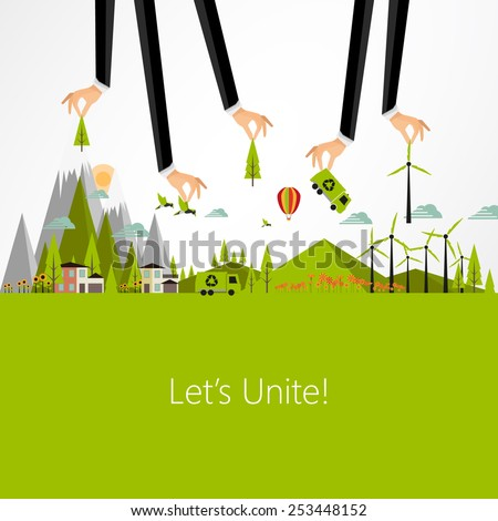 Eco Business Background Design, Vector Eps10 - stock vector