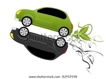 Eco car concept. Vector - stock vector