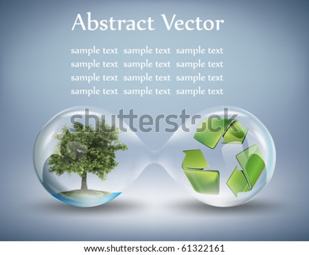 eco concept - stock vector