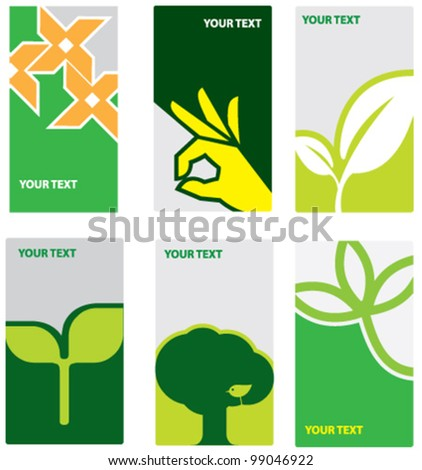 Eco concept die cut card - stock vector