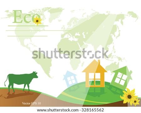 Eco concept,eco icon,eco logo,,Green concepts. - stock vector
