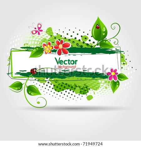 eco design background. Vector illustration - stock vector