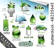 Eco Design Elements and Icons - stock vector