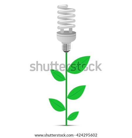 Eco Design on a white background. Vector illustration. - stock vector