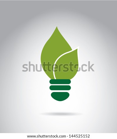 eco energy design over gray background vector illustration - stock vector