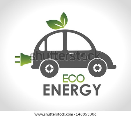 eco energy design over gray background vector illustration  - stock vector