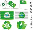 eco flags - stock photo