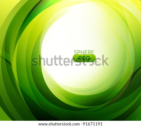 Eco-friendly abstract swirl - stock vector