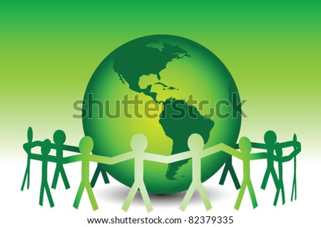 Eco Friendly Earth - stock vector