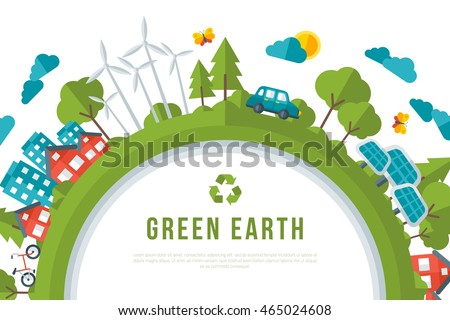 Eco Friendly Green Energy Concept Frame Stock Vector 465024608 ...