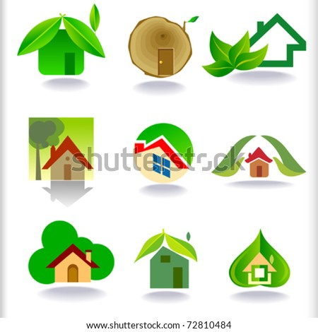 ECO FRIENDLY GREEN HOUSES ICONS COLLECTION - NEW
