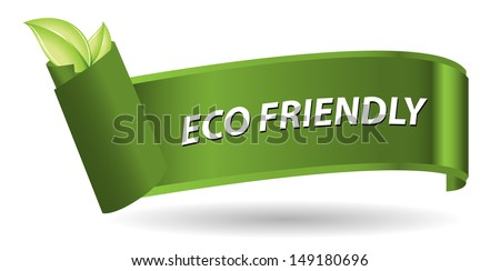 Eco friendly green label - stock vector