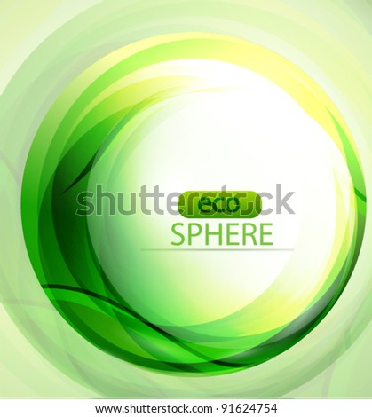 Eco-friendly green sphere abstract background - stock vector