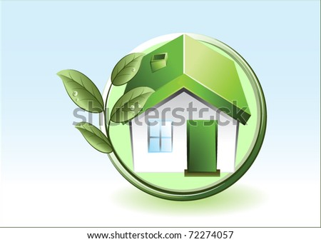 eco-friendly house - stock vector